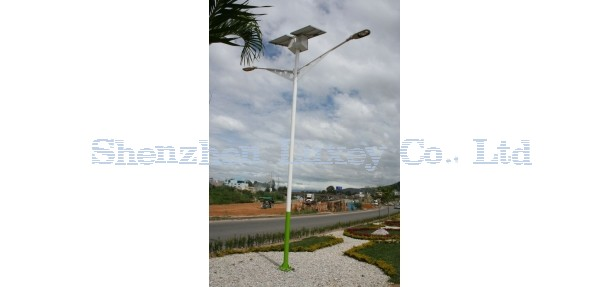 Luxey 60w solar street light at country road in Mexico
